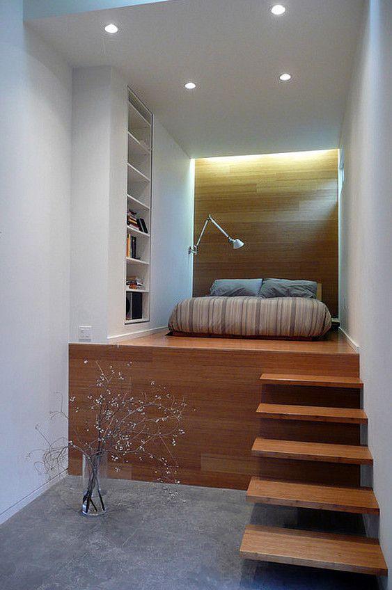 kleine wohnung einrichten mit hochbett_schlafzimmer gestalten mit