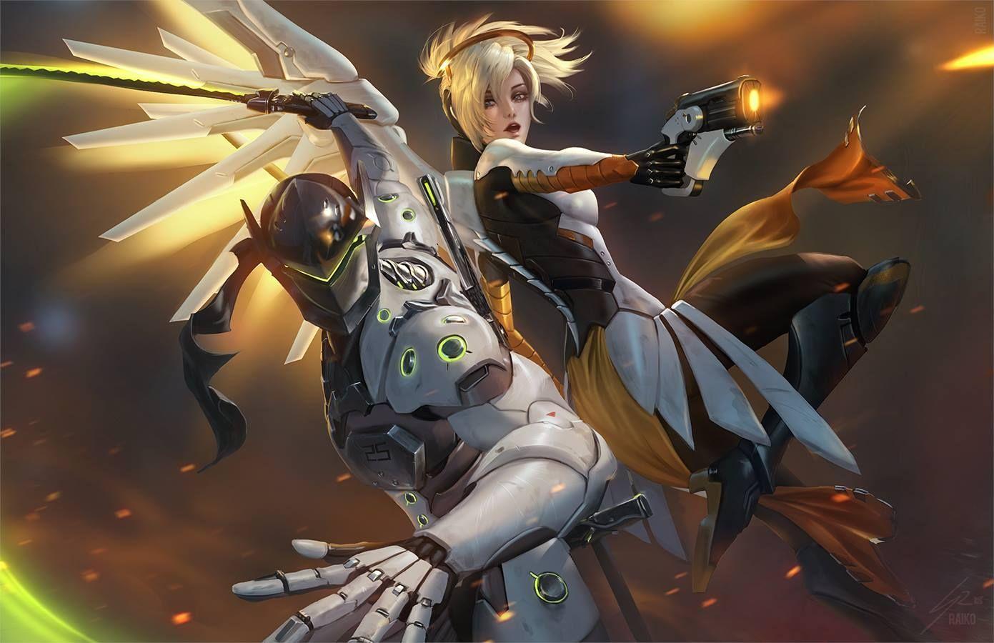 Gency Genji x Mercy Mercy overwatch, Overwatch