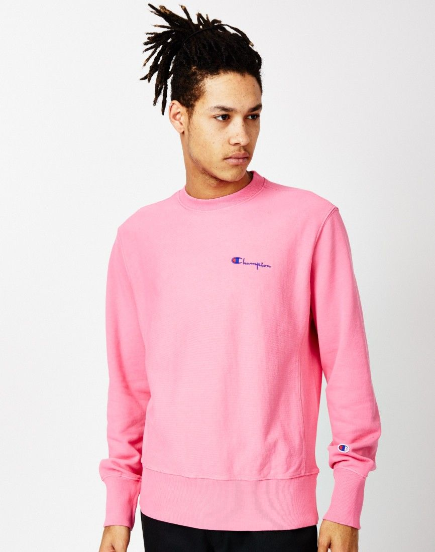 Champion Garment Dyed Classic Crew Sweatshirt Pink | Shops, The o ...