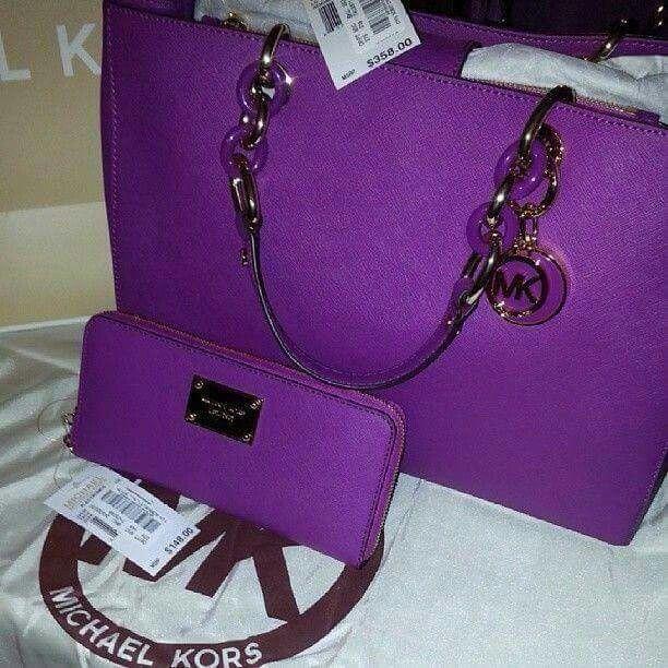c0aa35a1235a Purple Michael Kors | Purses | Bags, Michael kors bag, Cheap michael ...