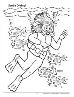 Adventure bay coloring pages ~ Scuba Diving Ocean Adventure Coloring Page | 초등고학년 | 여름 및 ...