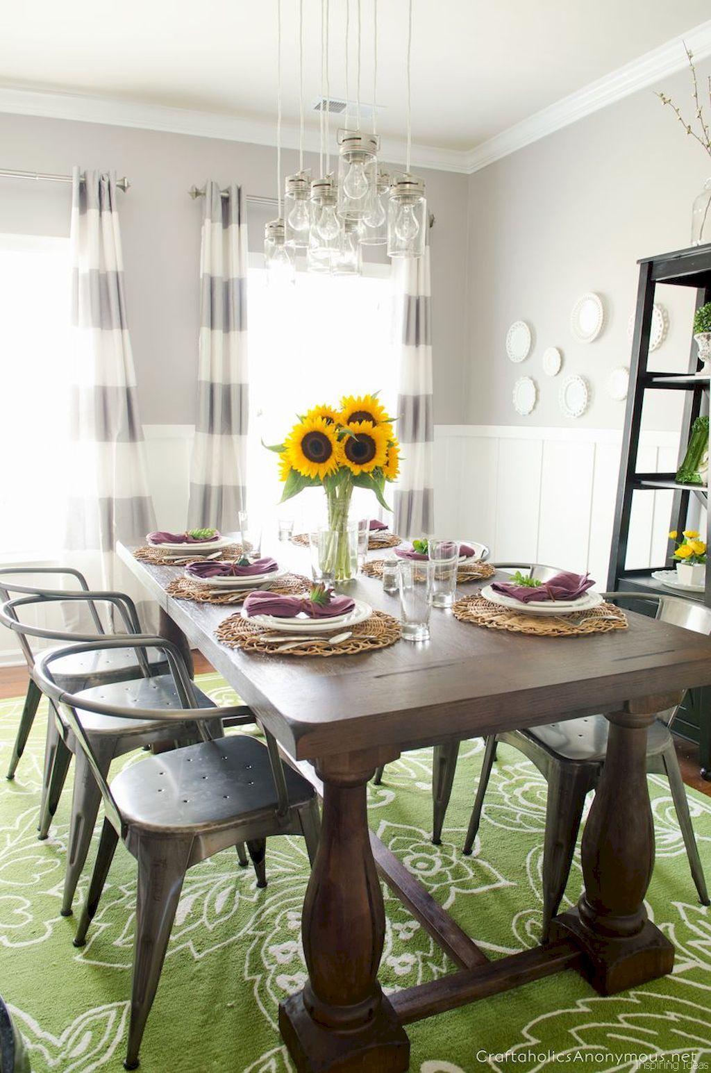 60 stunning farmhouse style dining room decorating ideas