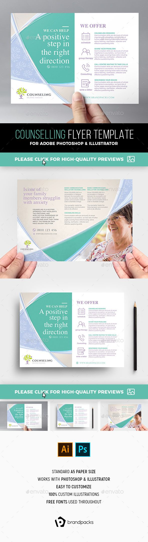 Counselling Service Flyer#Template - #Corporate Flyers | Flyer ...