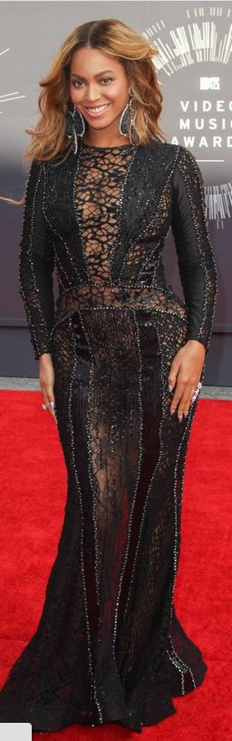 Who Made Beyonce Knowles Black Lace Long Sleeve Dress Jewelry And