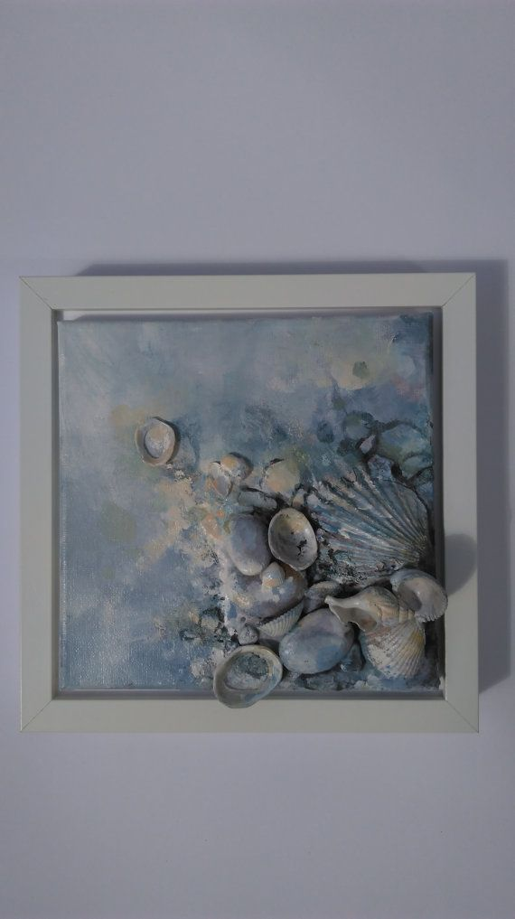 Contemporary art, Sea story (8x8), Home decor, Canvas art, Original ...