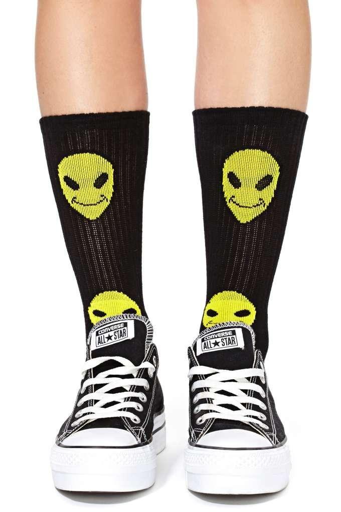 ec6fa326133 Happy Alien Socks