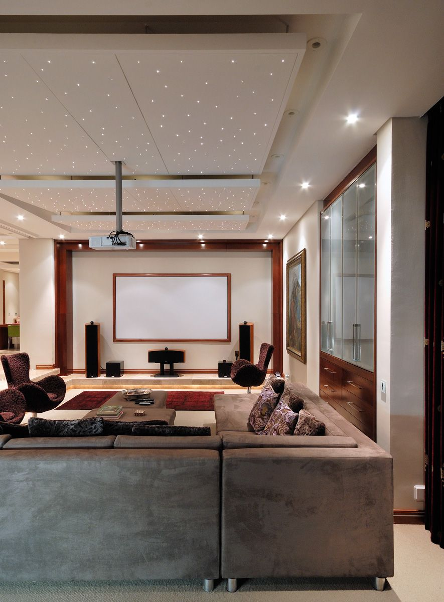 Dream Home Cinema With Star Ceiling Design