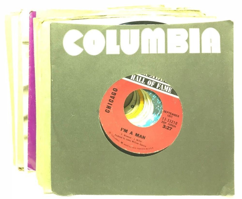 Chicago 70 S 80 S Vinyl 7 Record Lot 45rpm 45s Record Jukebox Sleeves Qty 17 Records Vinyl Records Jukebox