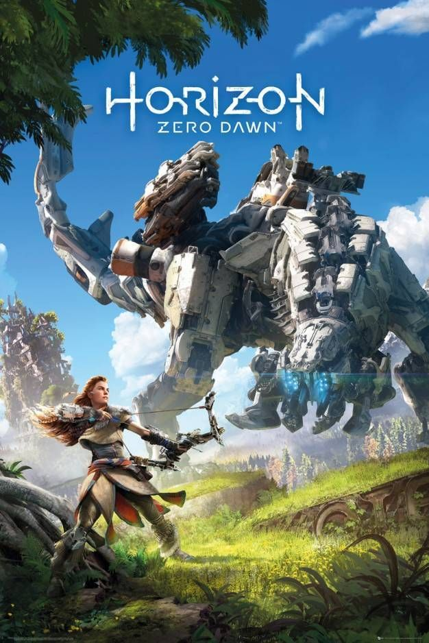 Horizon Zero Dawn Key Art Maxi Poster Jogos Ps4 Posters De Filmes Jogos De Video Game