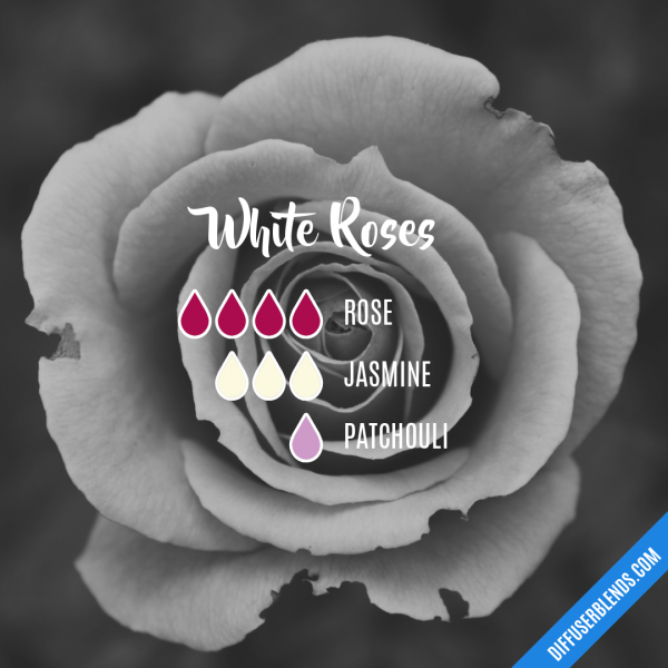 White Roses - Essential Oil Diffuser Blend   Things to try