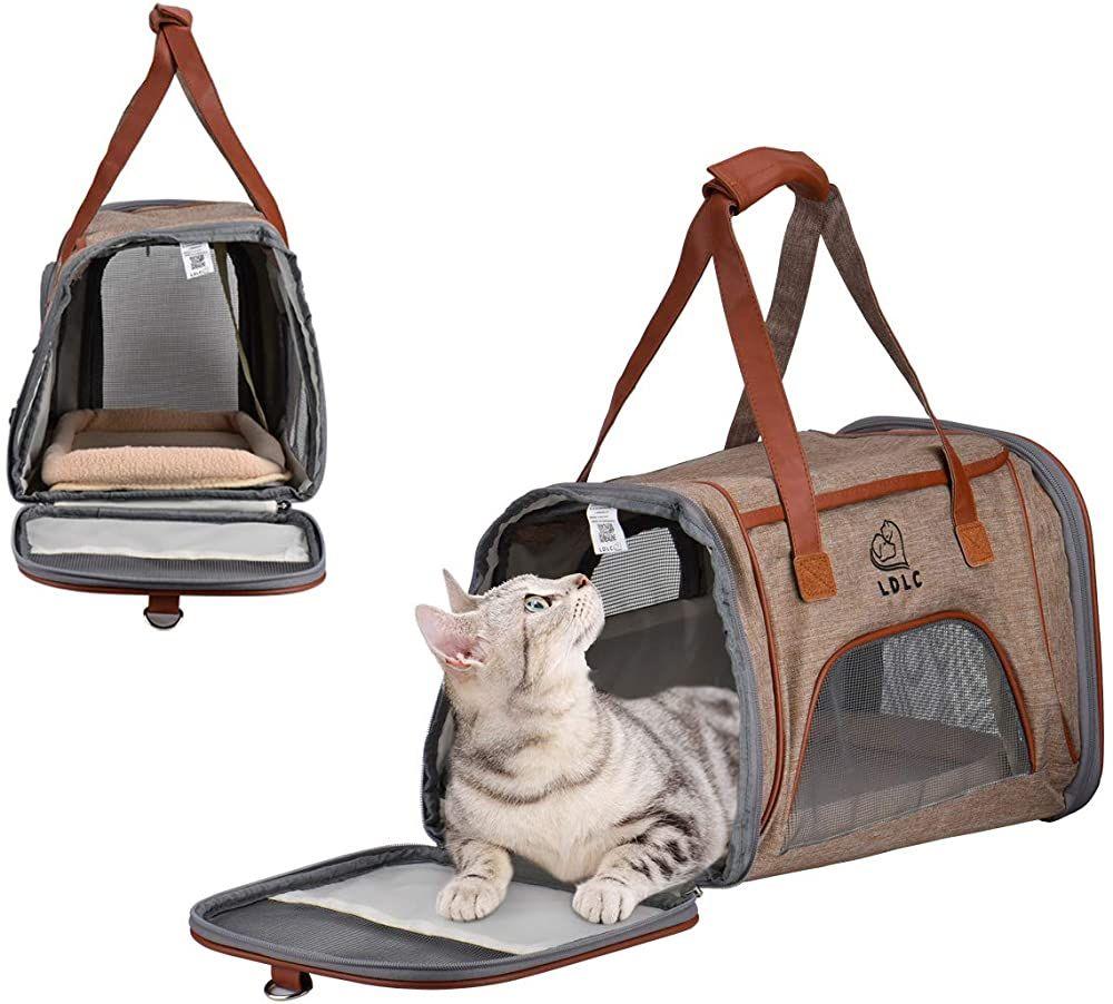 Queta Zusammenklappbare Hundetasche Katzentasche Haustier Tasche Tragbare Oxford Stoff Haustier Tasche Geeignet Fur Hund Oder Katz Hundetasche Katzen Haustier