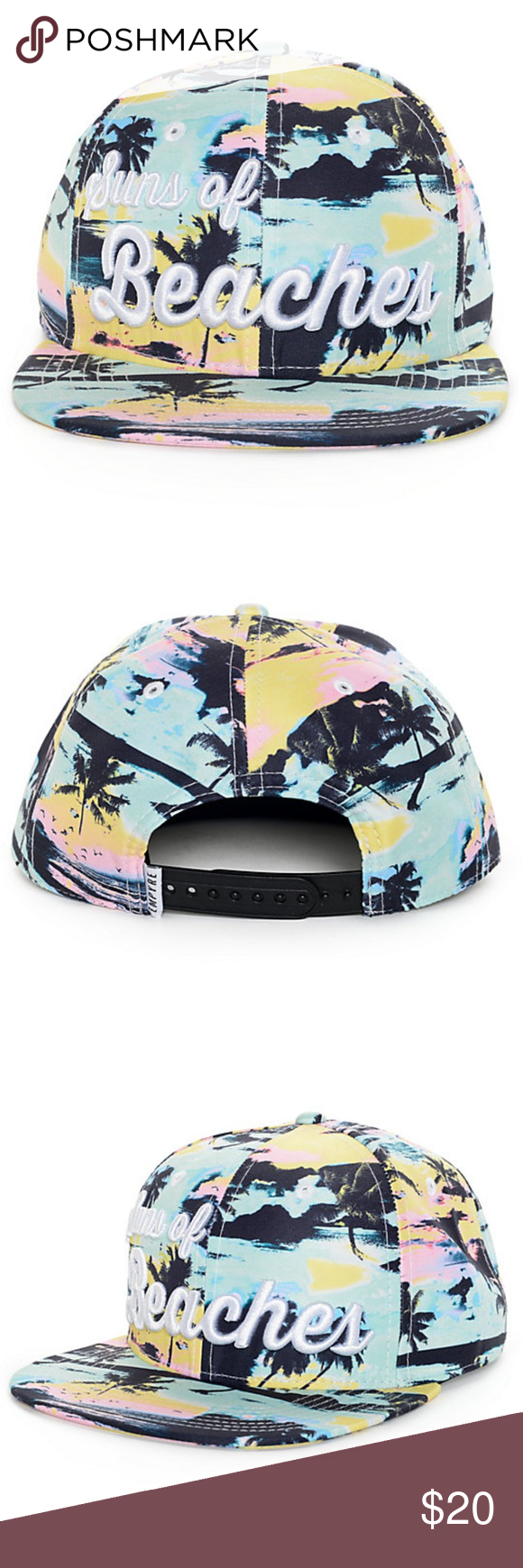 bd538772323 NWOT Empyre Suns of Beaches Snapback Hat Suns of Beaches Snapback by Empyre  featuring colors teal