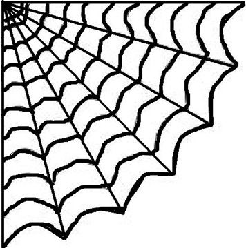 picture about Spider Web Template Printable called Scorching Glue Spiderweb, Do it yourself Instruction Spider template
