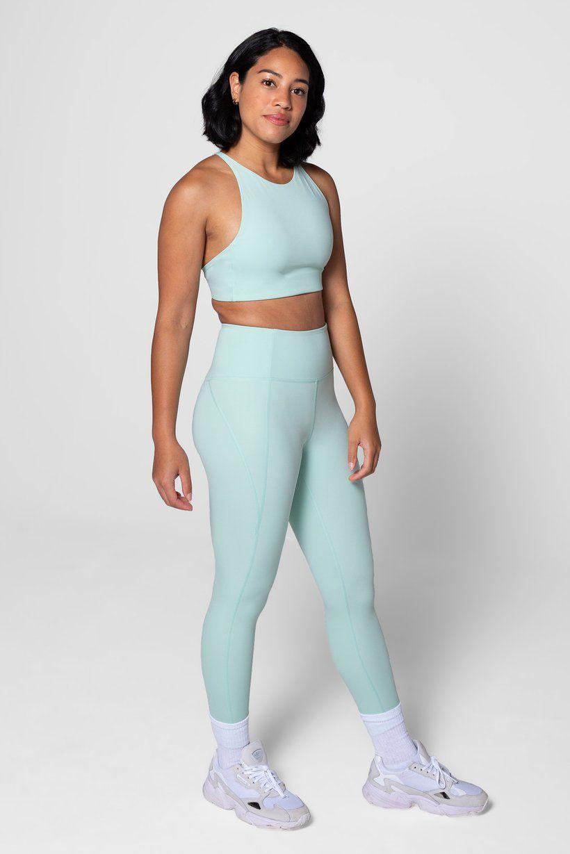 Topanga Bra Foam in 2020 High neck sports bra, Pilates