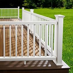 Best Kontiki Composite Deck Railing White Hand Rail Kit 36 X6 400 x 300