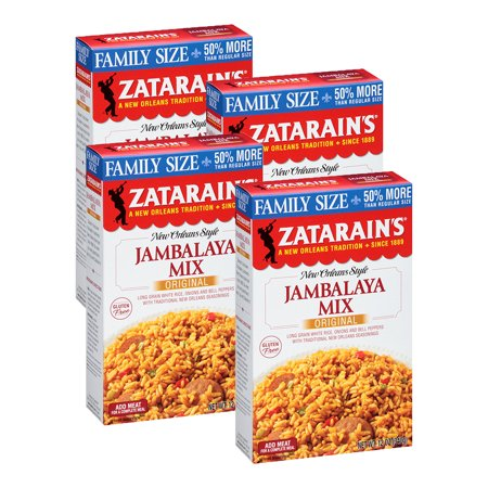 (4 Pack) Zatarain's Jambalaya Rice Dinner Mix, 12 oz