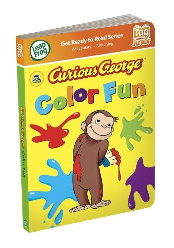 Leapfrog Tag Junior Book Curious George Color Delay Gifts Curious George Preschool Games Leap Frog