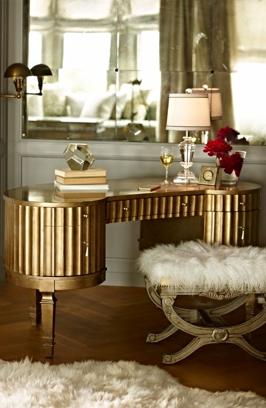 The Fluted Exterior Kidney Shape And Antiqued Cream And