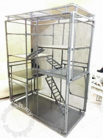 Sangkar Kucing Besar 6x5x3 Kaki Cat Cage Pets For Sale