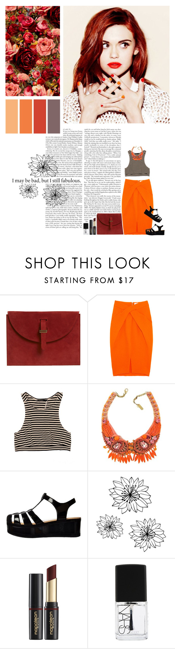"""""""I keep going to the river to pray, cuz I need something that can wash out the pain"""" by summerrsun ❤ liked on Polyvore featuring Dion Lee, Seed Design, Radà, Retrò, Napoleon Perdis and NARS Cosmetics"""