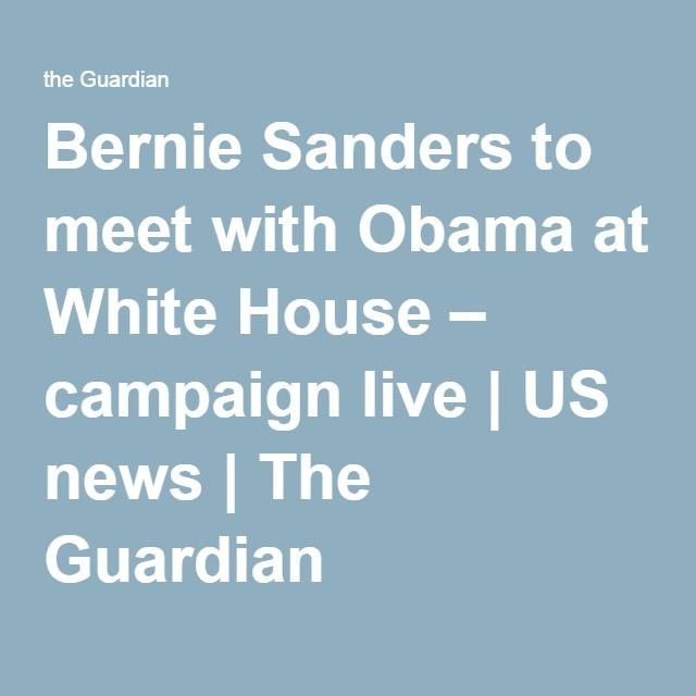 Bernie Sanders to meet with Obama at White House – campaign live http://www.theguardian.com/us-news/live/2016/jun/09/presidential-campaign-bernie-sanders-meet-obama-white-house-clinton-trump