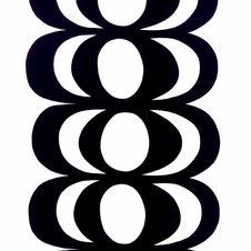 Marimekko Kaivo Fabric Black/White Repeat