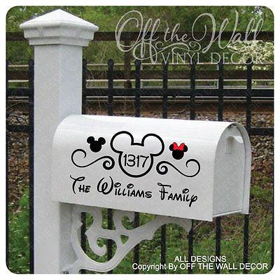 Disney Quot Mickey Mouse Quot Vinyl Mailbox Lettering Decoration