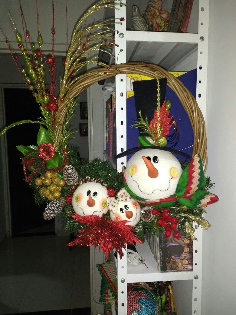 Colgante navide o areglos navide os pinterest colgantes navidad y coronas - Ideas para arreglos navidenos ...