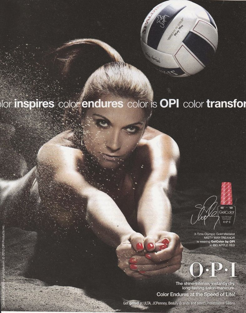 2012 Women S Volleyball Misty May Treanor For O P I Print Ad Great To Frame Ebay Misty May Treanor Softball Senior Pictures Volleyball
