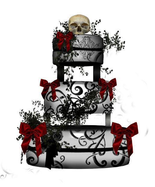 38+ Gothic wedding cake toppers ideas