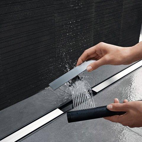 Canivelle de douche Geberit de la gamme CleanLine u2013 filtre à cheveux
