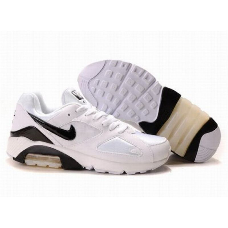 Air Max 180 White Black Shoes for Men
