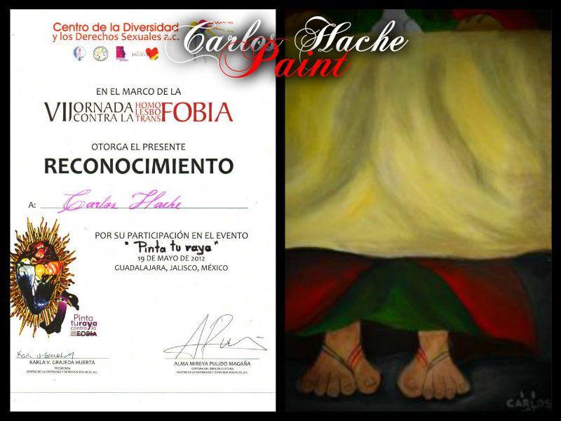 En mis Zapatos, Pintura Acrilica 40x50 para participar en el evento Pinta tu Raya