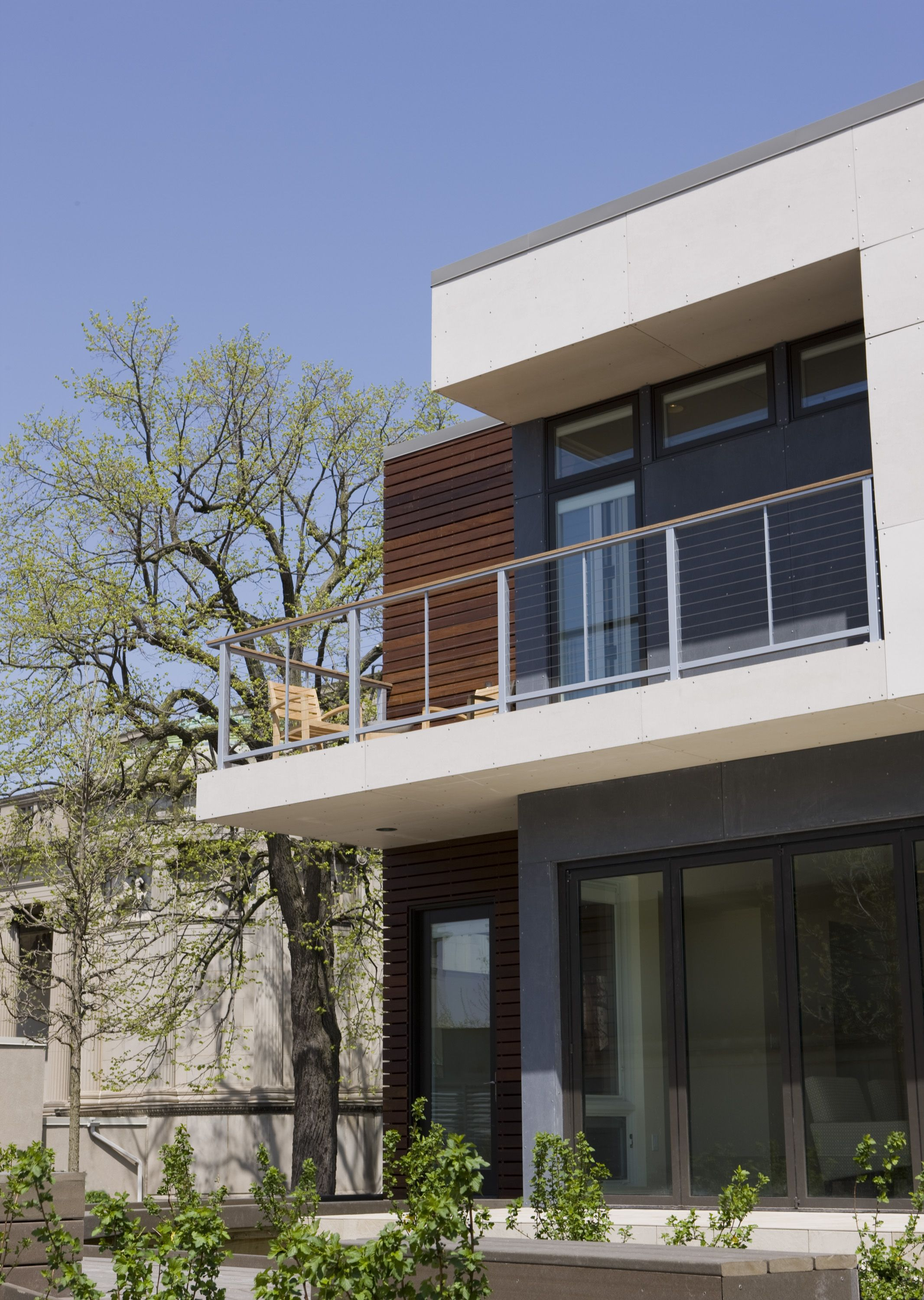 """three-story modular and sustainable """"green"""" home designed by ..."""