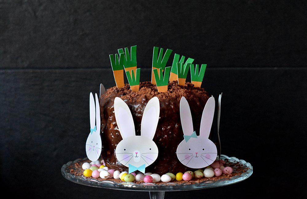 Le gâteau au chocolat de Pâques