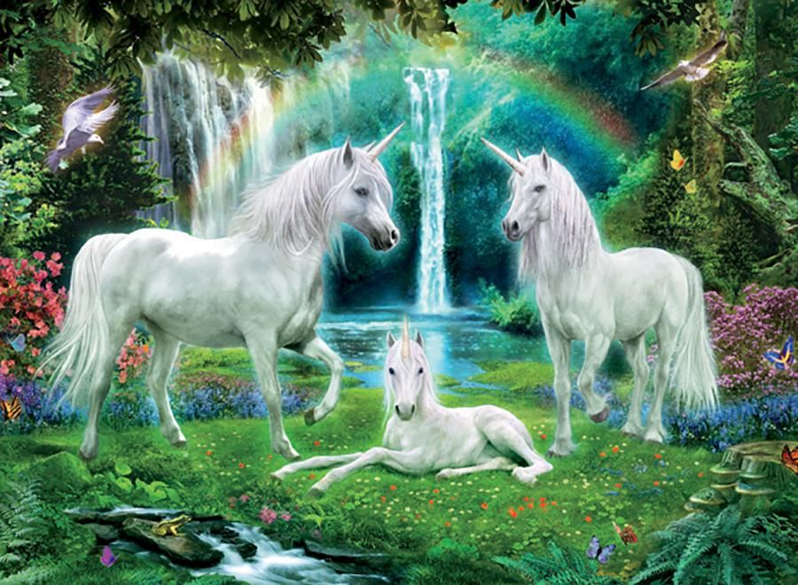 Rainbow Unicorn Family Unicorns Unicorn Fantasy Unicorn