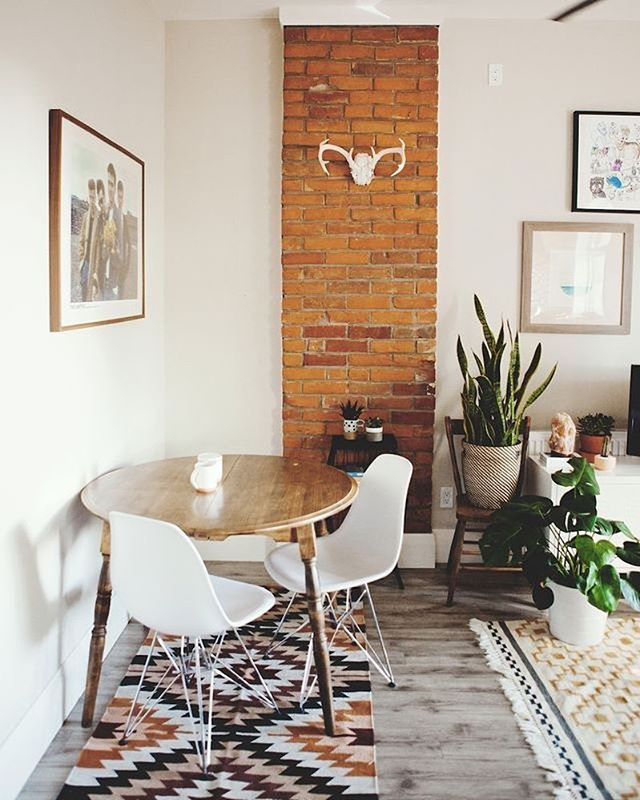 Really like look of wood table with white chairs like this