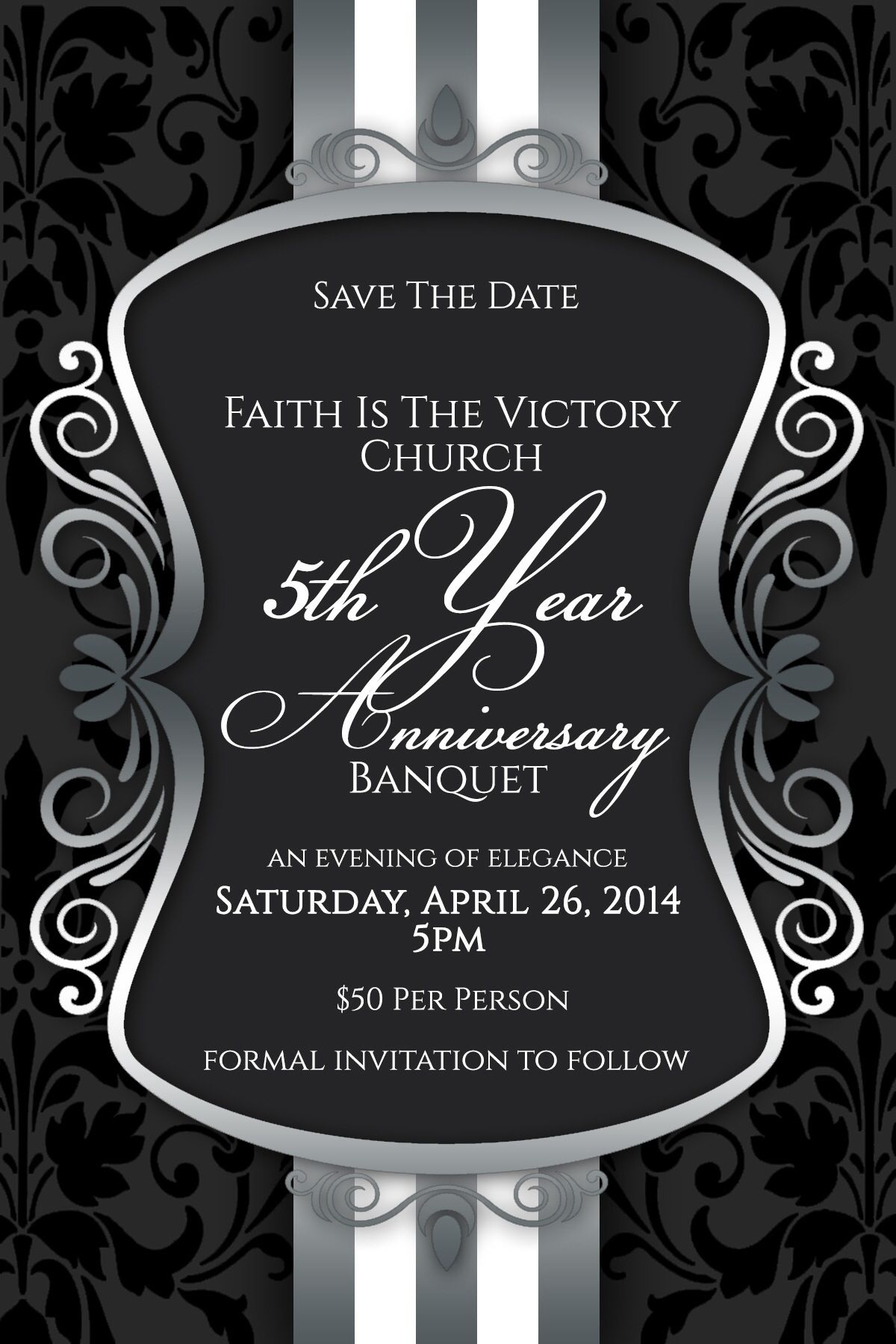 SAVE THE DATE We invite you to join Faith Is The Victory ...