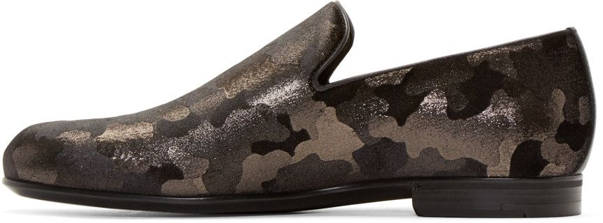 f30a12d50c1 Jimmy Choo - Gunmetal Camouflage Sloane Loafers