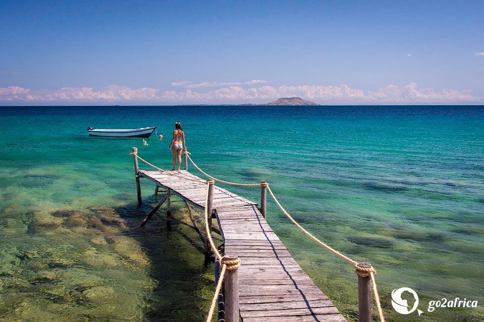 Built entirely by hand in partnership with the local community, Kaya Mawa consists of 10 stone and teak cottages tucked away on a granite headland. The jetty takes you out to gorgeous Lake Malawi.