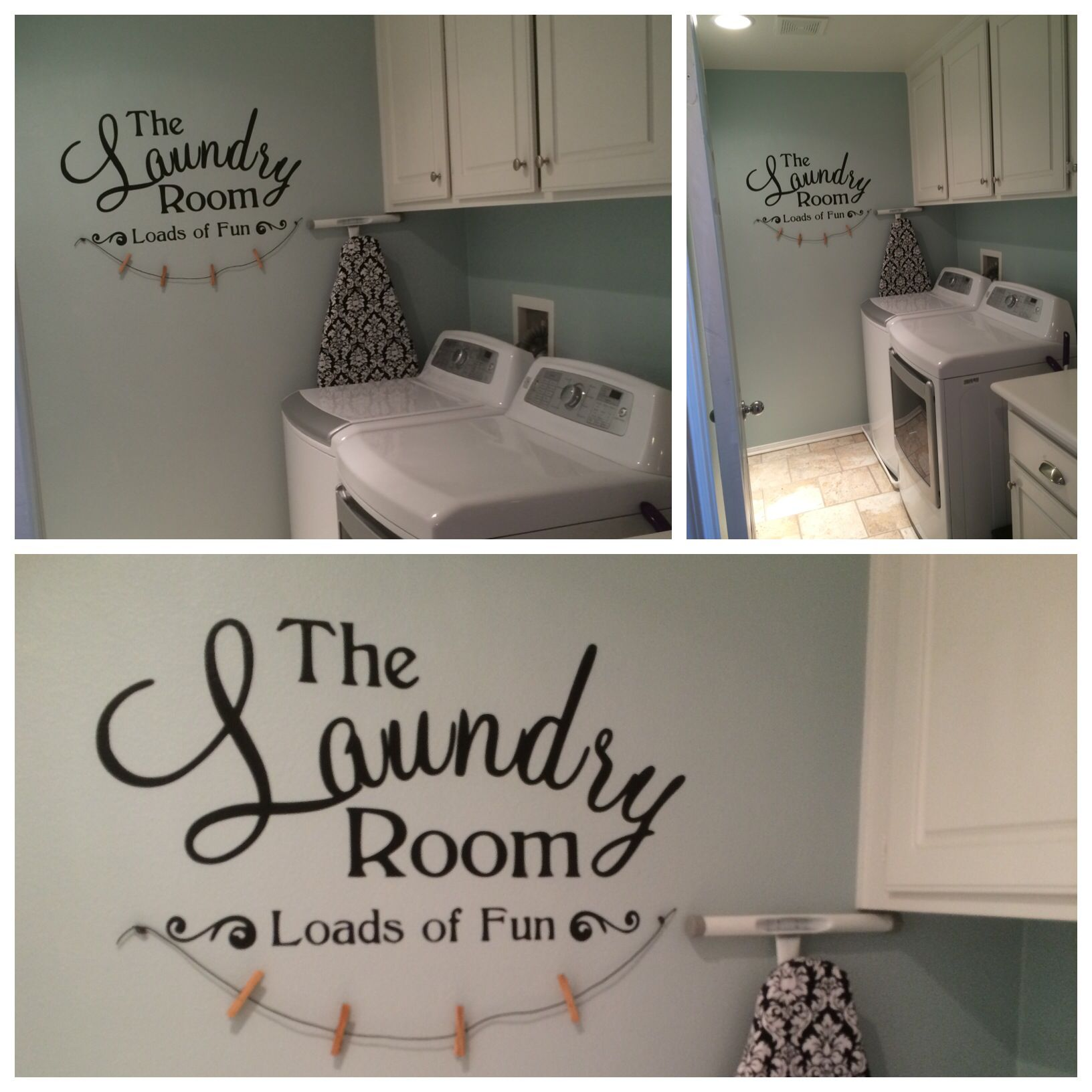 Sparkling Lake Paint Valspar In My Laundry Room Laundry Room Makeover Laundry Room Mudroom Laundry Room Paint my laundry room