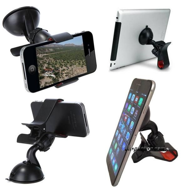 Universal Windshield Car Mount or Desktop Mount for Cell Phone and GPS Compatible with large phones such as the iPhone 6 Plus and Note 3  Quality and unbranded