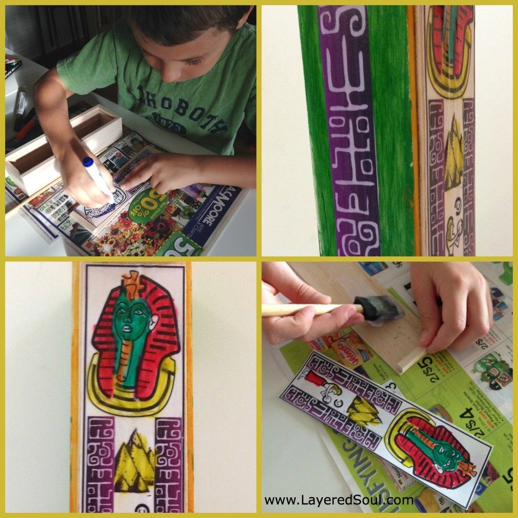 Ancient Egypt Activities For Kids Turning A Pencil Box