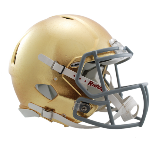 For All Of You Irish Fans Out There Notre Dame S Gold Standard Helmets By Hgi Are In Stock At Riddell Football Helmets College Football Helmets Helmet