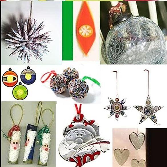 M s de 100 ideas para decorar en navidad reciclando - Decorar casa navidad manualidades ...