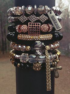 Beaded Bracelets are fun & easy to stack together in any combination that you like! Show off your personality with a fab bracelet stack:)