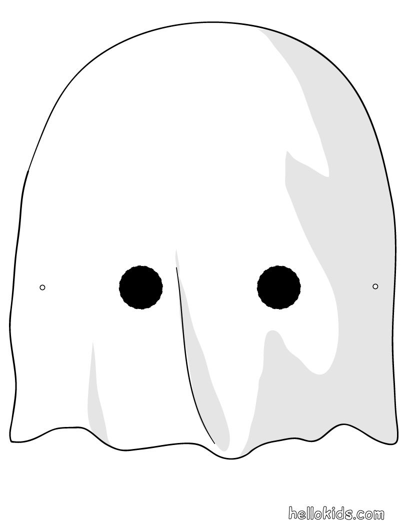 ghost mask printable masks for kids print on cardstock and