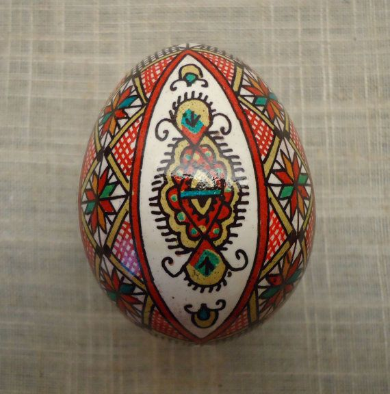 Chicken Pysanky Pysanka from Ukraine by PysankaFolkArt on Etsy