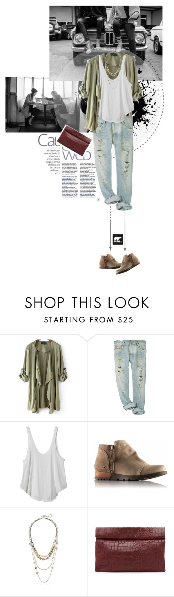 """""""fall mood"""" by inesa-styles ❤ liked on Polyvore featuring SOREL, RVCA, Robert Lee Morris and Marie Turnor"""