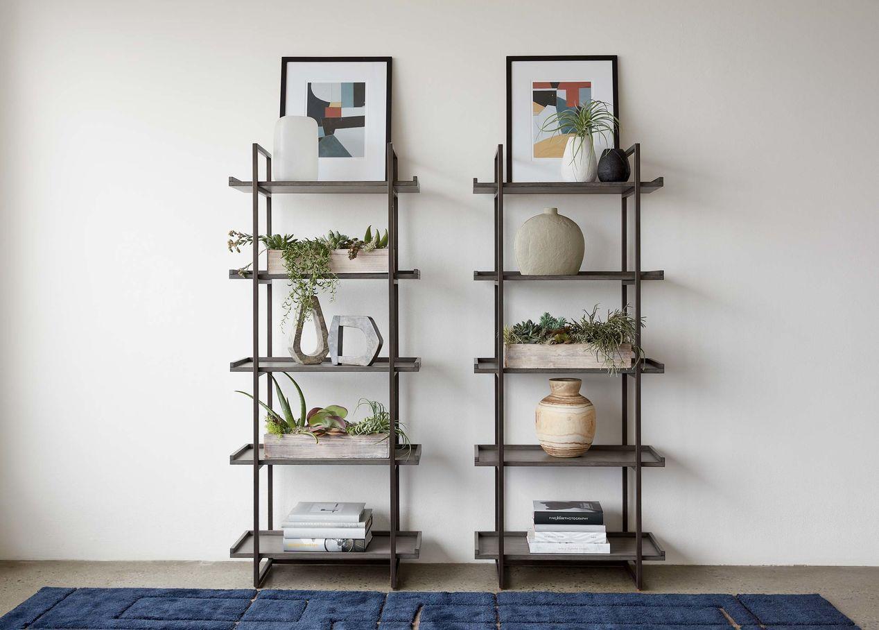 Ethan allen home decor modern spaces bookcase